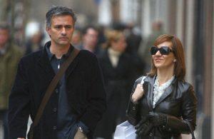 Jose Mourinho with his wife Matilde