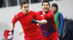 Meciul de fotbal Steaua - CFR Cluj, scor 1-1, etapa 17, liga 1, tur, campionat 2011-2012, desfasurat  pe stadionul National Arena (Arena Nationala), in Bucuresti. 10.12.2011