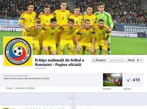Echipa naţionala de fotbal a României si-a facut Facebook!