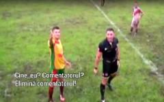 Faza UNICA in istoria fotbalului: arbitrul a ELIMINAT comentatorul. Ce s-a INTAMPLAT
