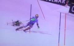VIDEO | Incident grav la o competitie de schi. Imaginile cu momentul in care o drona se apropie amenintator catre schior. Ce urmeaza