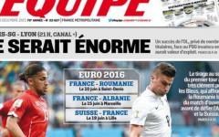 Pagina SPECIALA: cum arata prima pagina din L'Equipe dupa ce Romania a picat cu Franta la turneul final