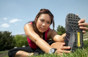 Athletic Woman - Stretches