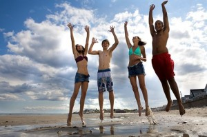 Young-people-jumping