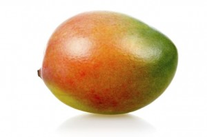 Ripe mango fruit isolated