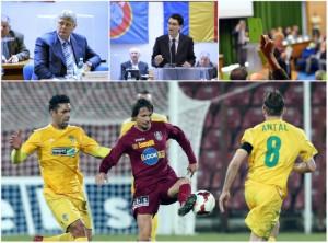Liga I va avea 14 echipe din sezonul 2015-2016 si sistem play-off si si play-out!